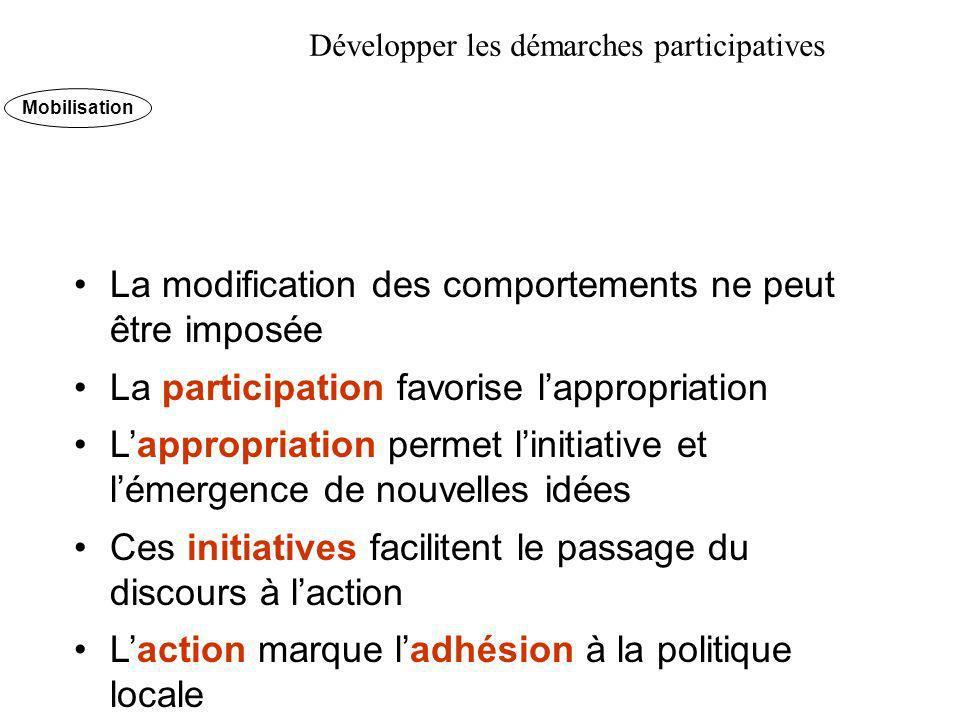 Développer les démarches participatives