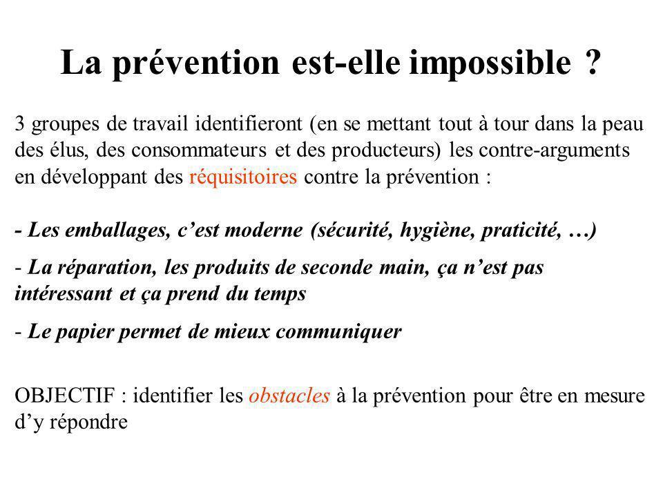La prévention est-elle impossible