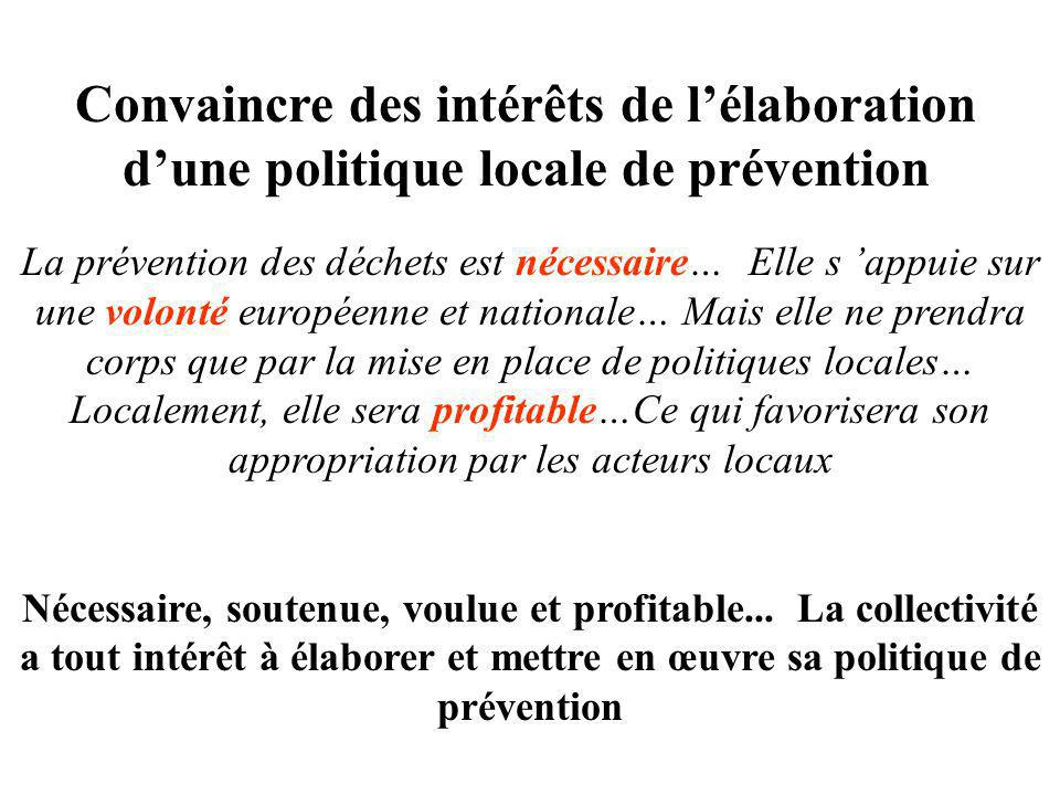 Convaincre des intérêts de l'élaboration d'une politique locale de prévention