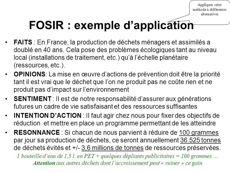 FOSIR : exemple d'application