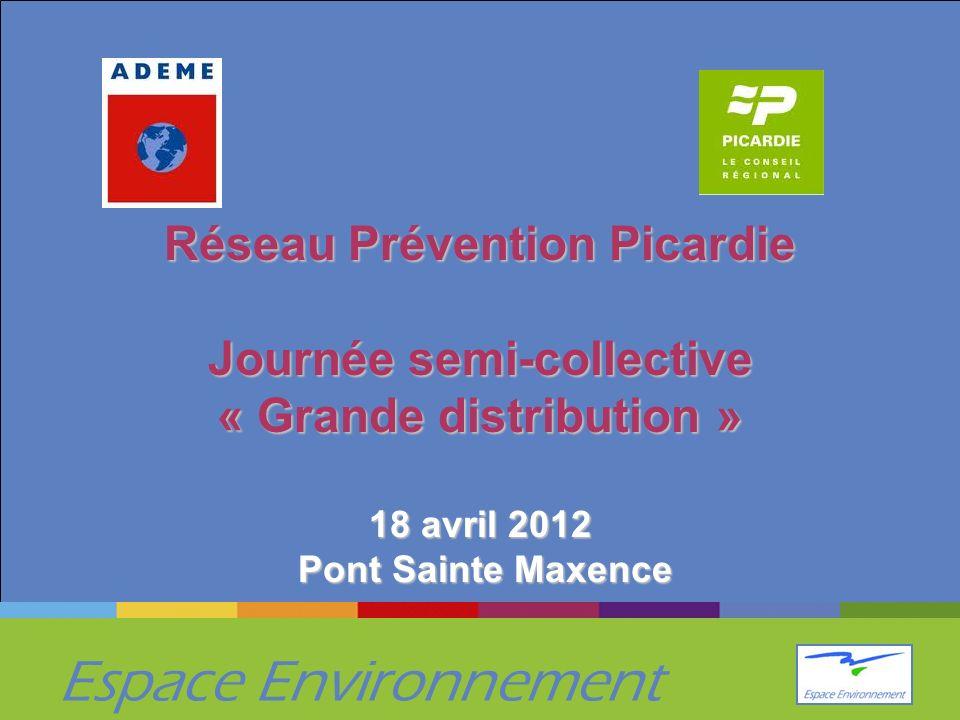 Réseau Prévention Picardie Journée semi-collective « Grande distribution » 18 avril 2012 Pont Sainte Maxence