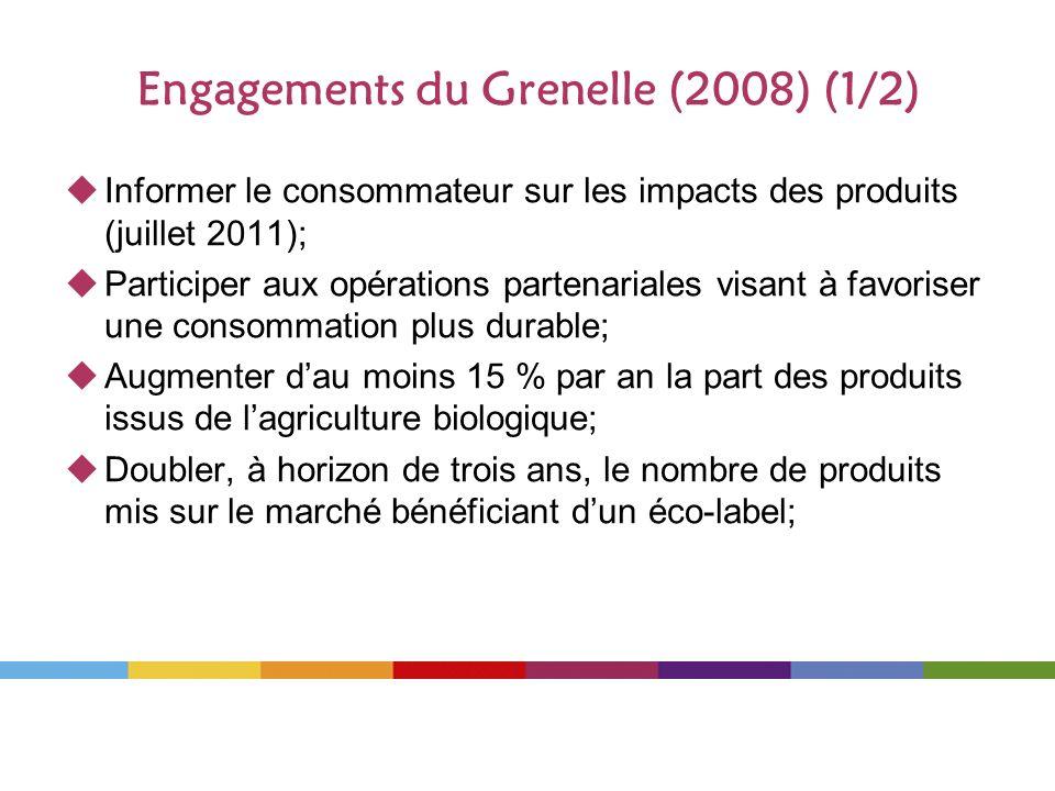 Engagements du Grenelle (2008) (1/2)