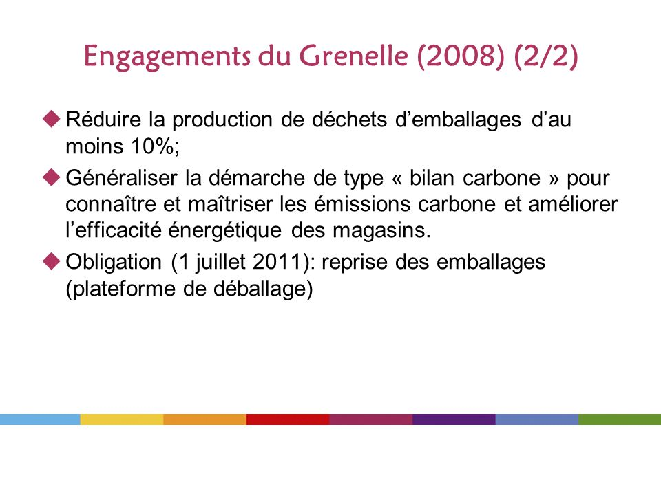 Engagements du Grenelle (2008) (2/2)