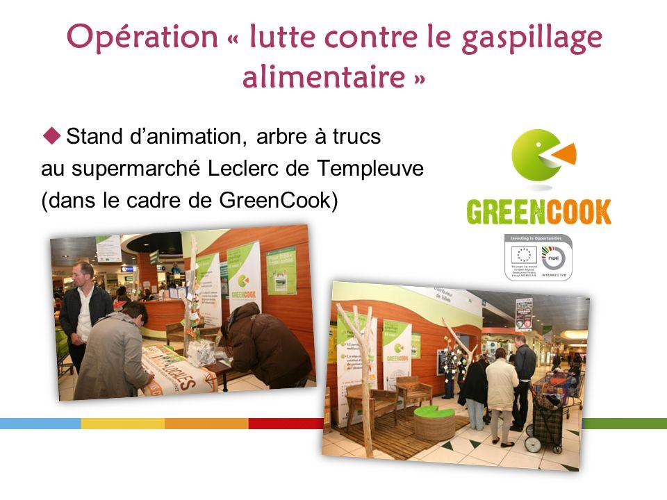 Opération « lutte contre le gaspillage alimentaire »
