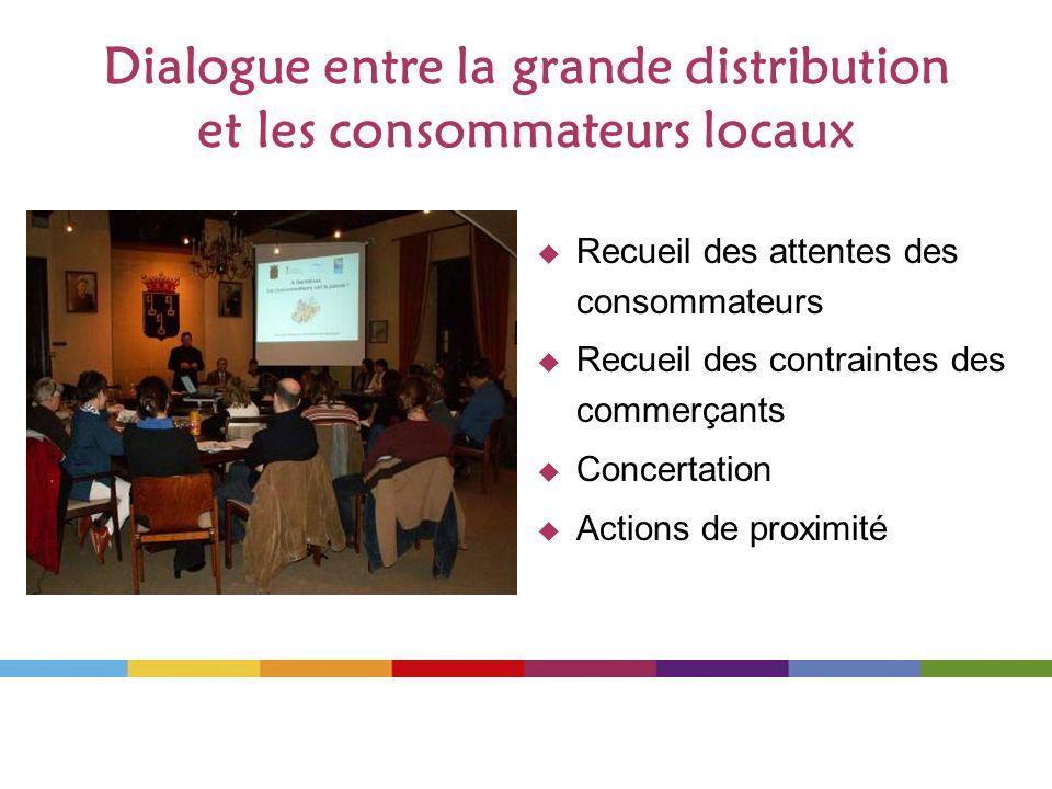 Dialogue entre la grande distribution et les consommateurs locaux