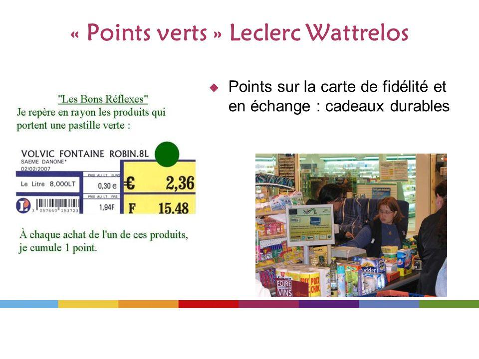 « Points verts » Leclerc Wattrelos