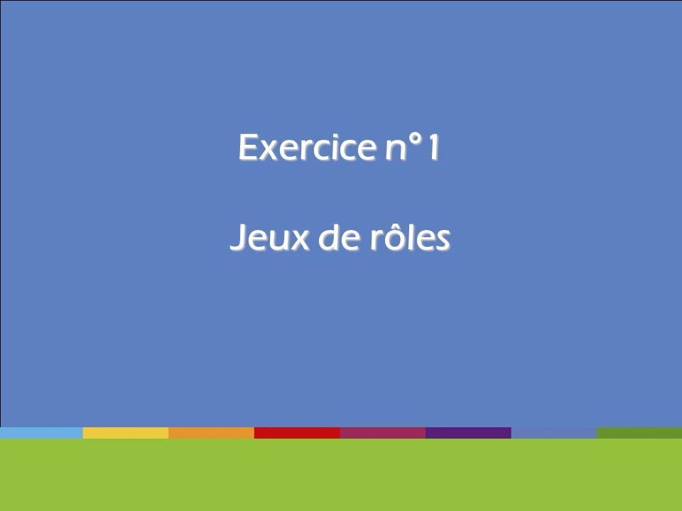 Exercice n°1 Jeux de rôles