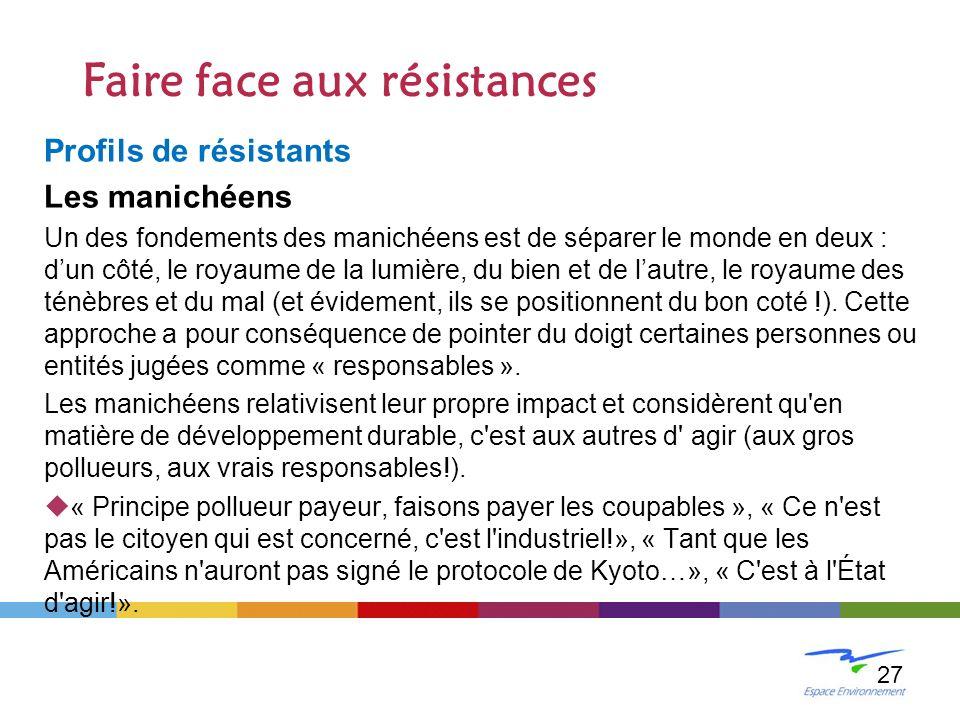 Faire face aux résistances