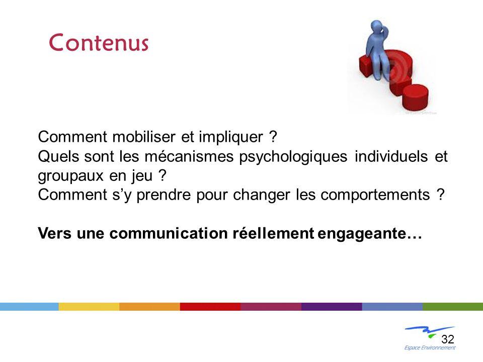 Contenus Comment mobiliser et impliquer