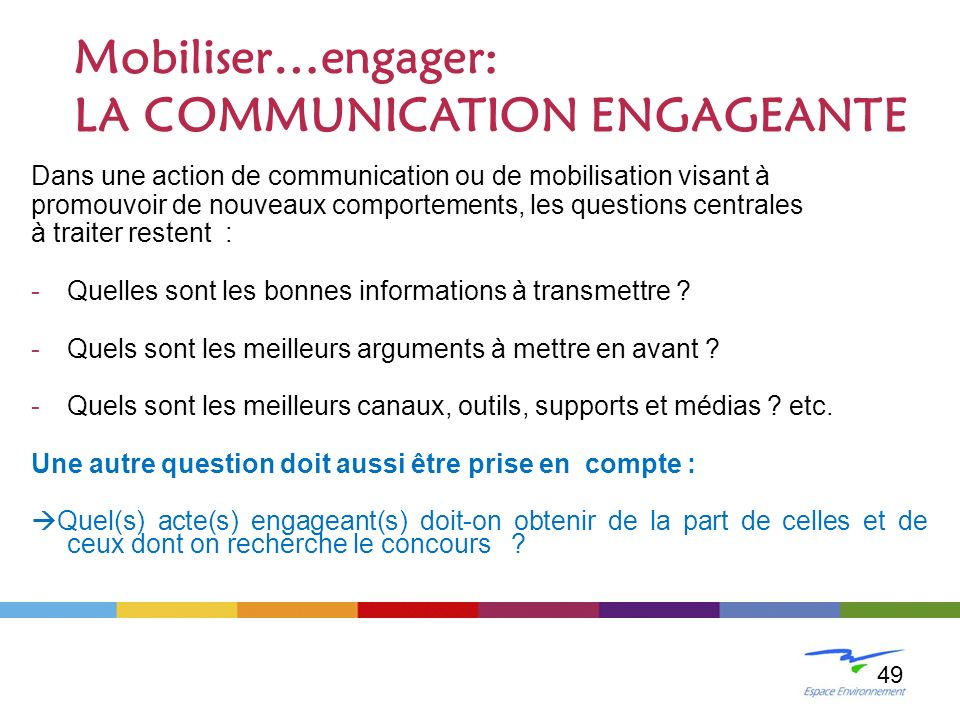 LA COMMUNICATION ENGAGEANTE