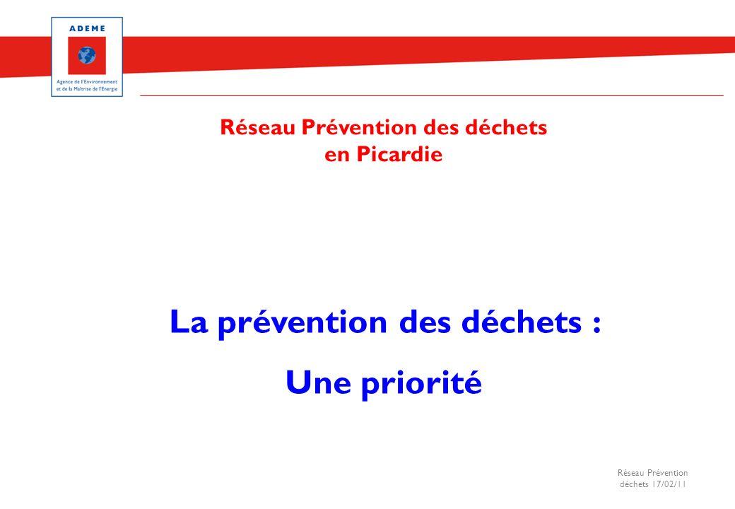 Réseau Prévention des déchets La prévention des déchets :