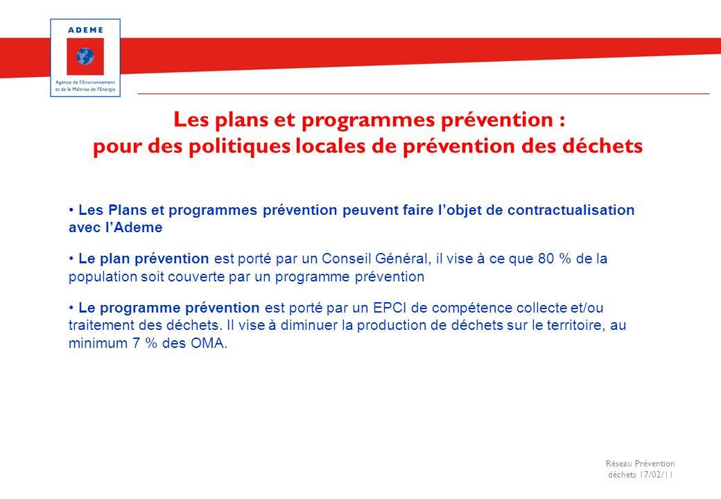 Les plans et programmes prévention :