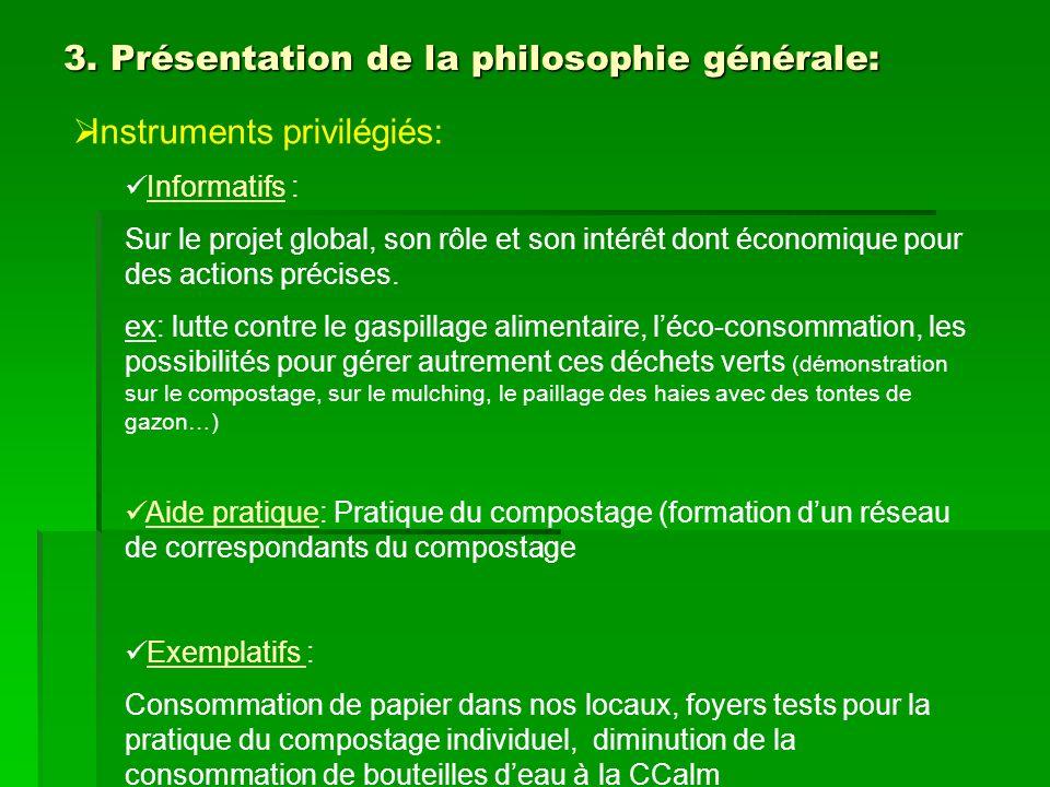 3. Présentation de la philosophie générale: