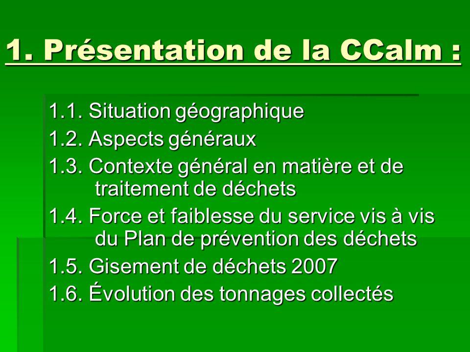 1. Présentation de la CCalm :