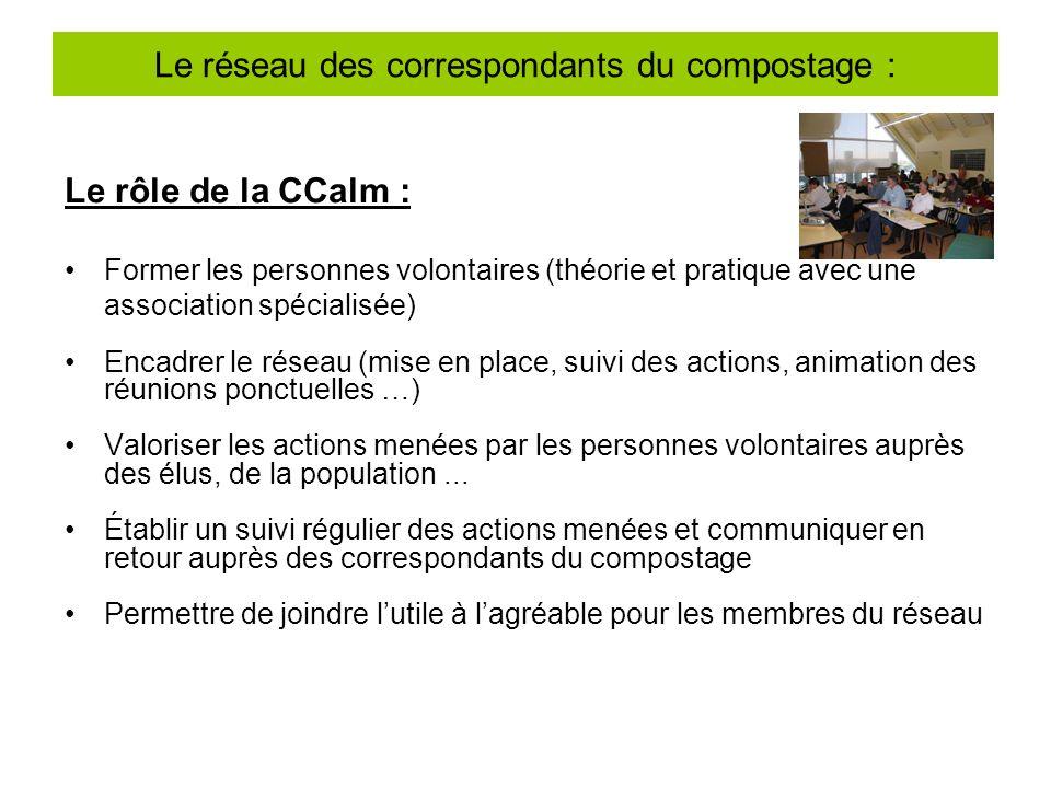 Le réseau des correspondants du compostage :