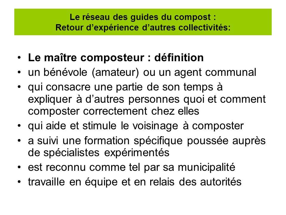 Le maître composteur : définition