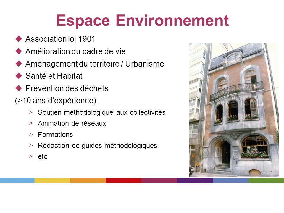 Espace Environnement Association loi 1901 Amélioration du cadre de vie