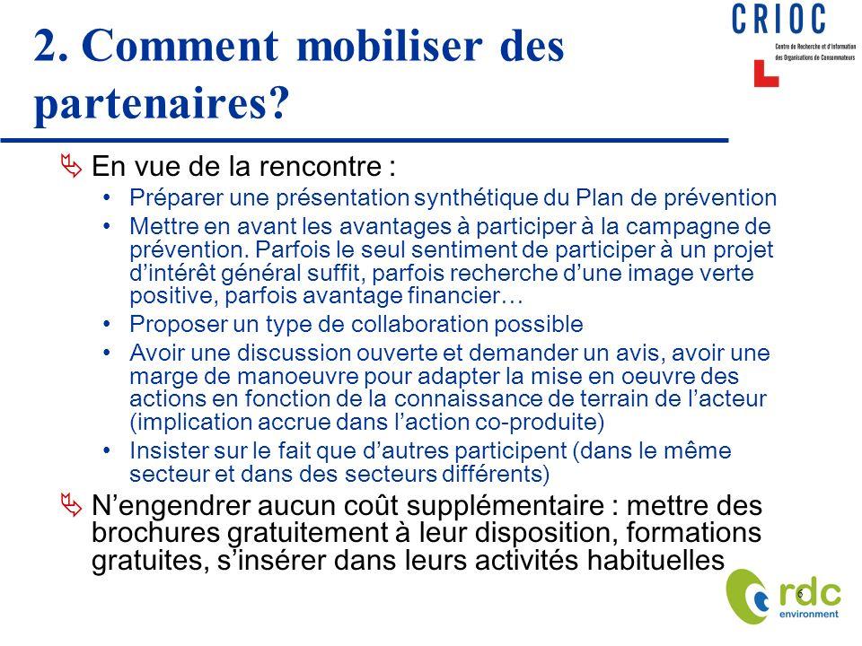 2. Comment mobiliser des partenaires