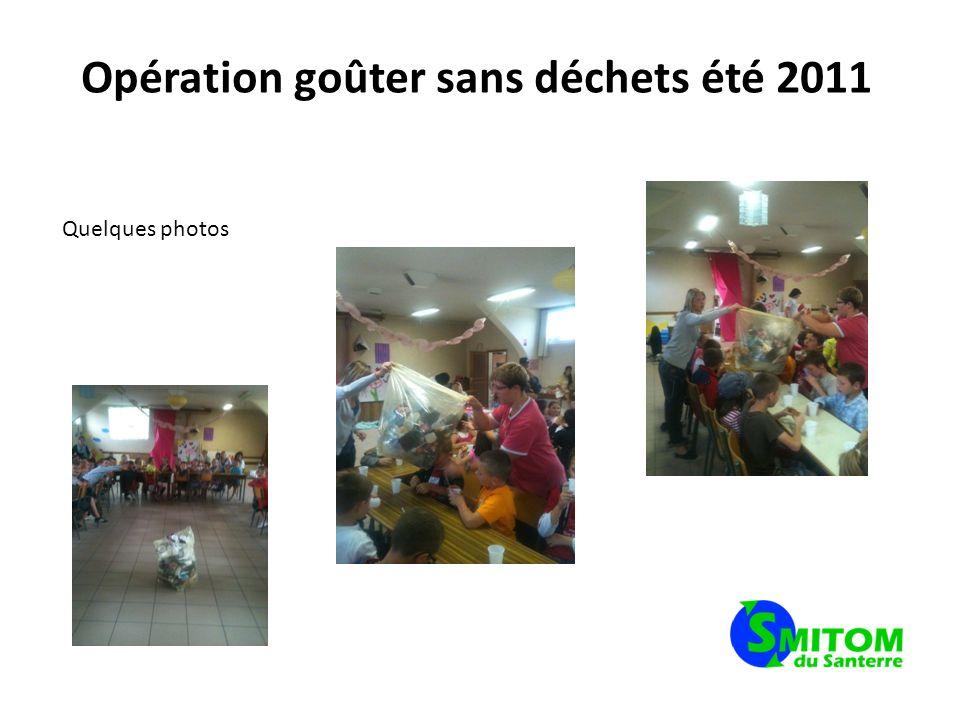 Opération goûter sans déchets été 2011
