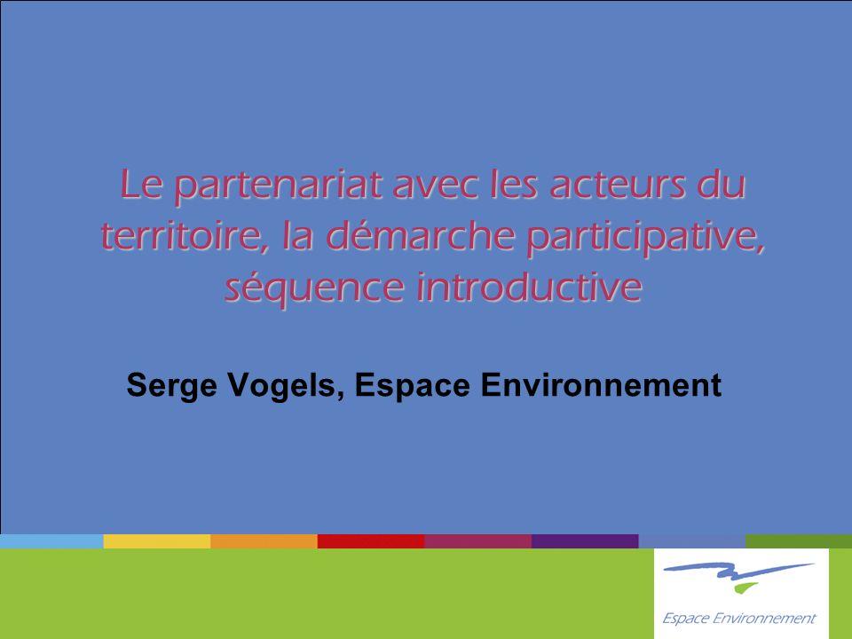 Serge Vogels, Espace Environnement