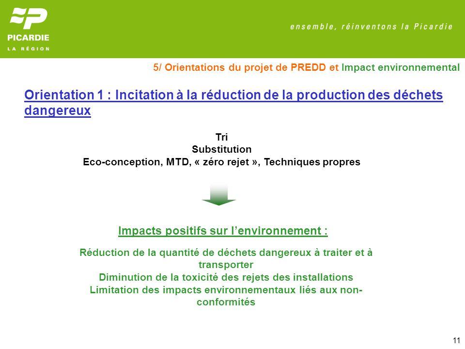 5/ Orientations du projet de PREDD et Impact environnemental