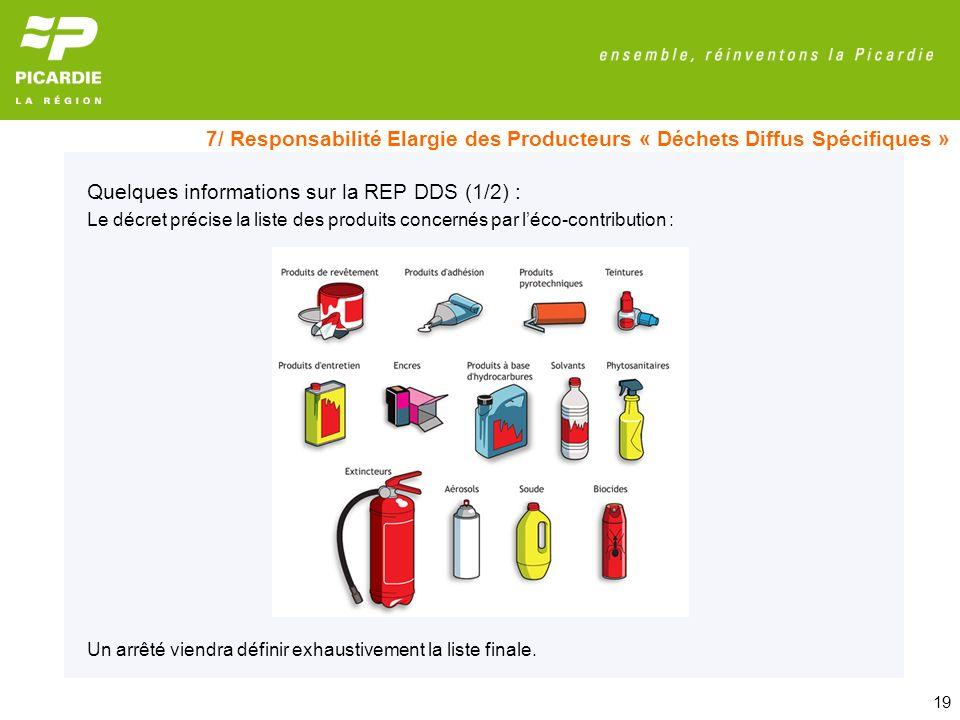 Quelques informations sur la REP DDS (1/2) :
