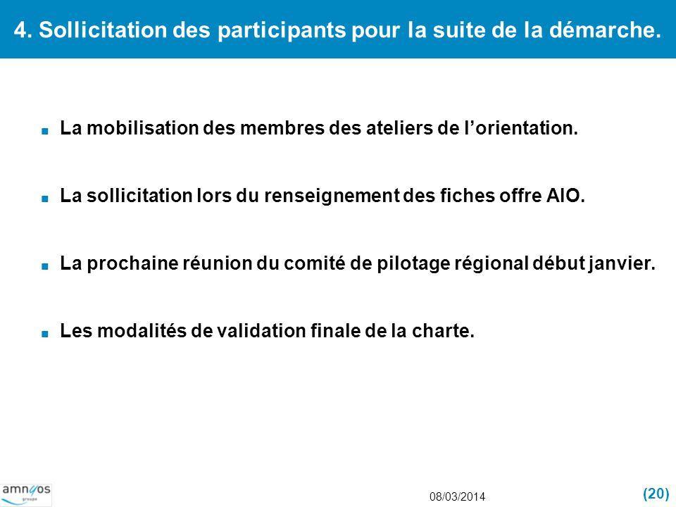 4. Sollicitation des participants pour la suite de la démarche.