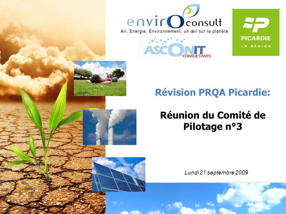 Révision PRQA Picardie: Réunion du Comité de Pilotage n°3