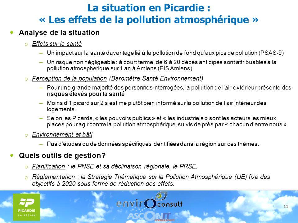 La situation en Picardie : « Les effets de la pollution atmosphérique »