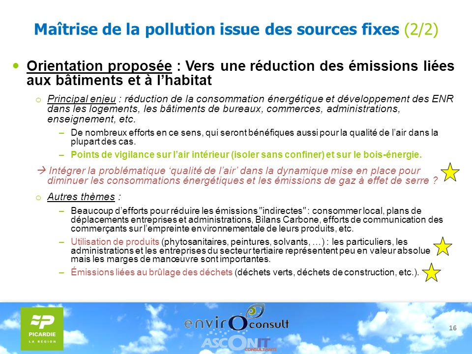 Maîtrise de la pollution issue des sources fixes (2/2)