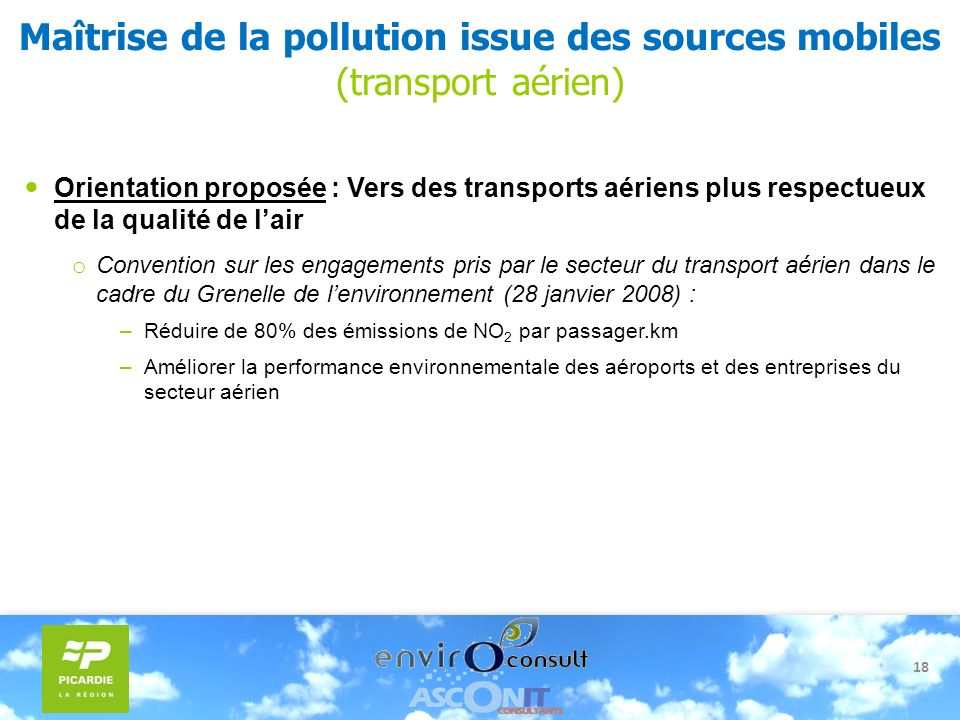 Maîtrise de la pollution issue des sources mobiles (transport aérien)