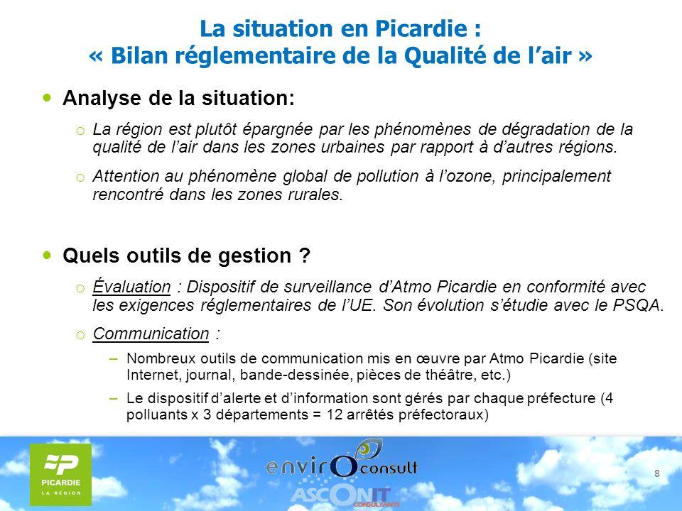 La situation en Picardie : « Bilan réglementaire de la Qualité de l'air »