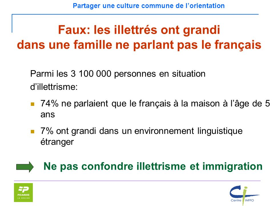Ne pas confondre illettrisme et immigration