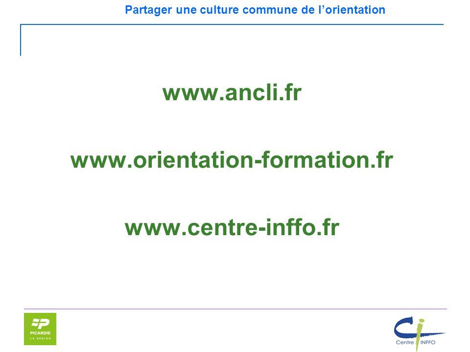 www.ancli.fr www.orientation-formation.fr www.centre-inffo.fr