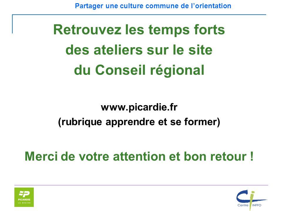Retrouvez les temps forts des ateliers sur le site du Conseil régional