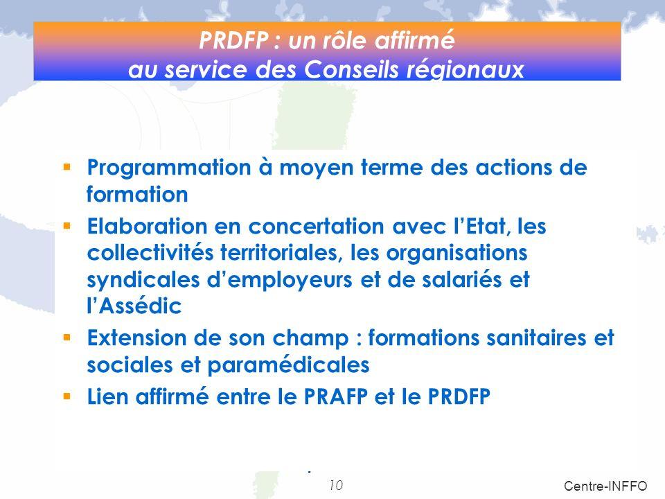 PRDFP : un rôle affirmé au service des Conseils régionaux