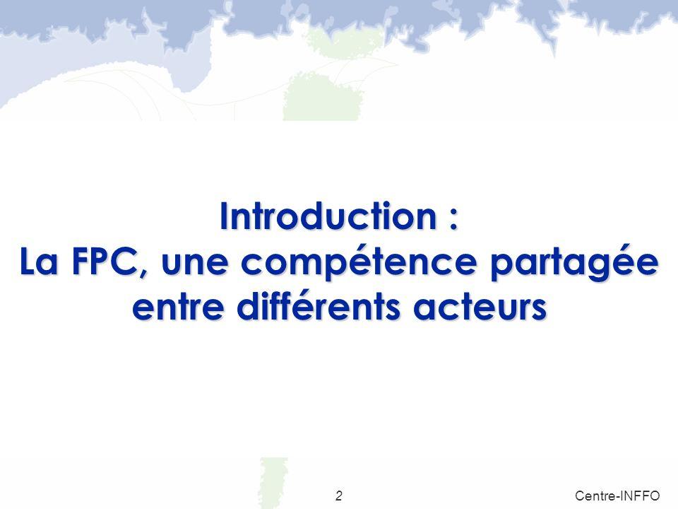 Introduction : La FPC, une compétence partagée entre différents acteurs