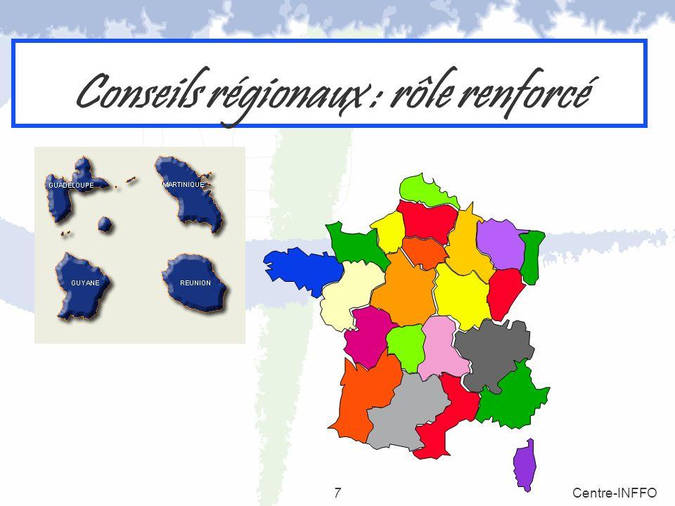 Conseils régionaux : rôle renforcé