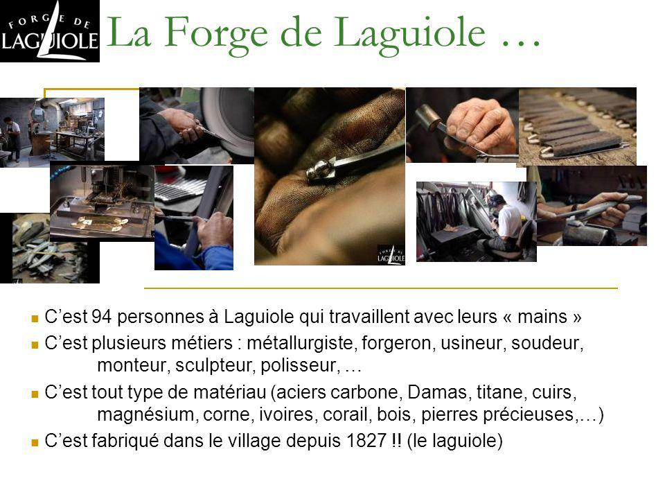 La Forge de Laguiole … C'est 94 personnes à Laguiole qui travaillent avec leurs « mains »