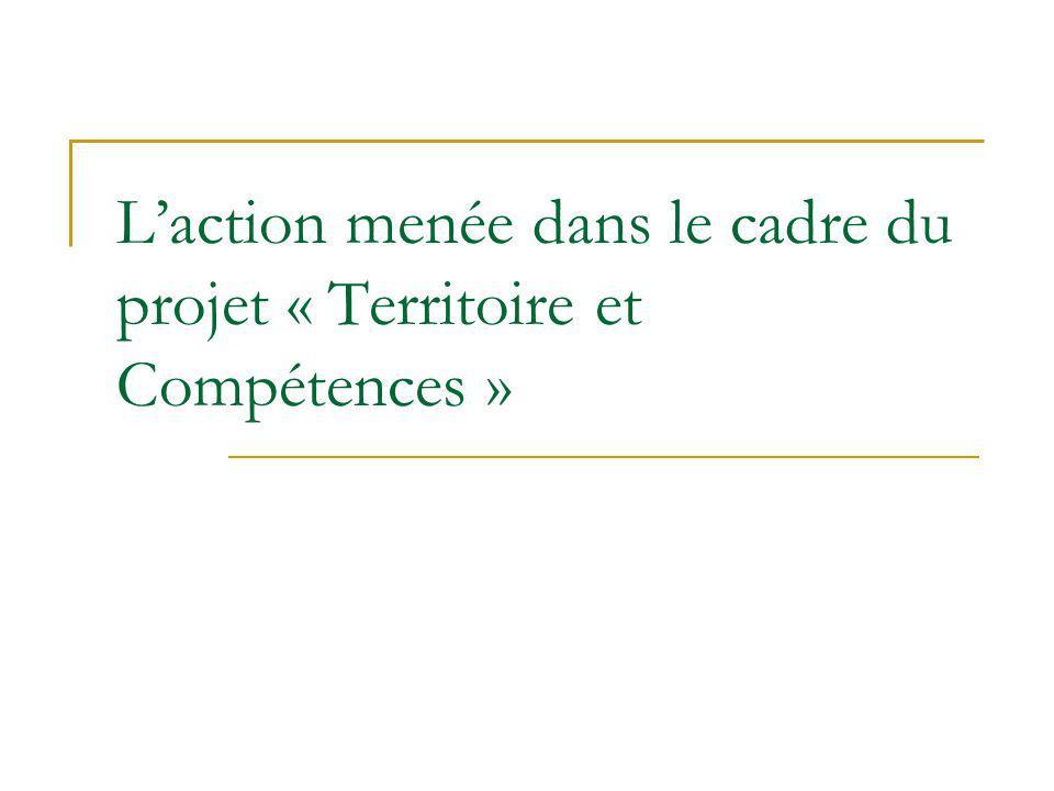 L'action menée dans le cadre du projet « Territoire et Compétences »