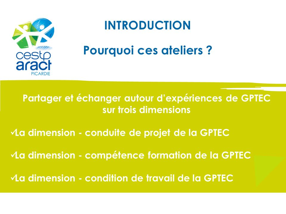 Partager et échanger autour d'expériences de GPTEC