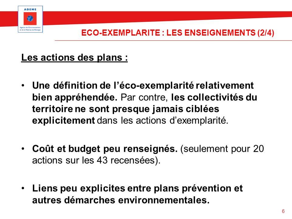 ECO-EXEMPLARITE : LES ENSEIGNEMENTS (2/4)