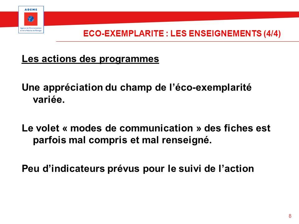 ECO-EXEMPLARITE : LES ENSEIGNEMENTS (4/4)