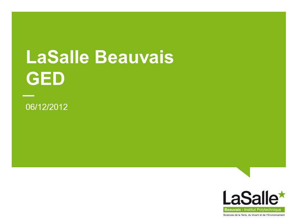 LaSalle Beauvais GED 06/12/2012