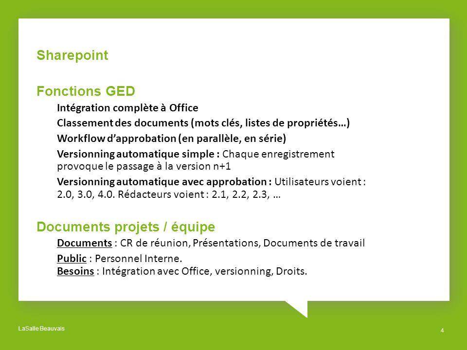 Documents projets / équipe