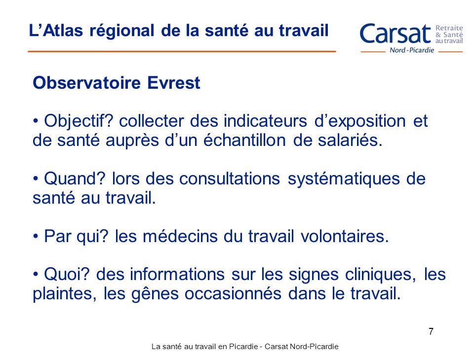 La santé au travail en Picardie - Carsat Nord-Picardie