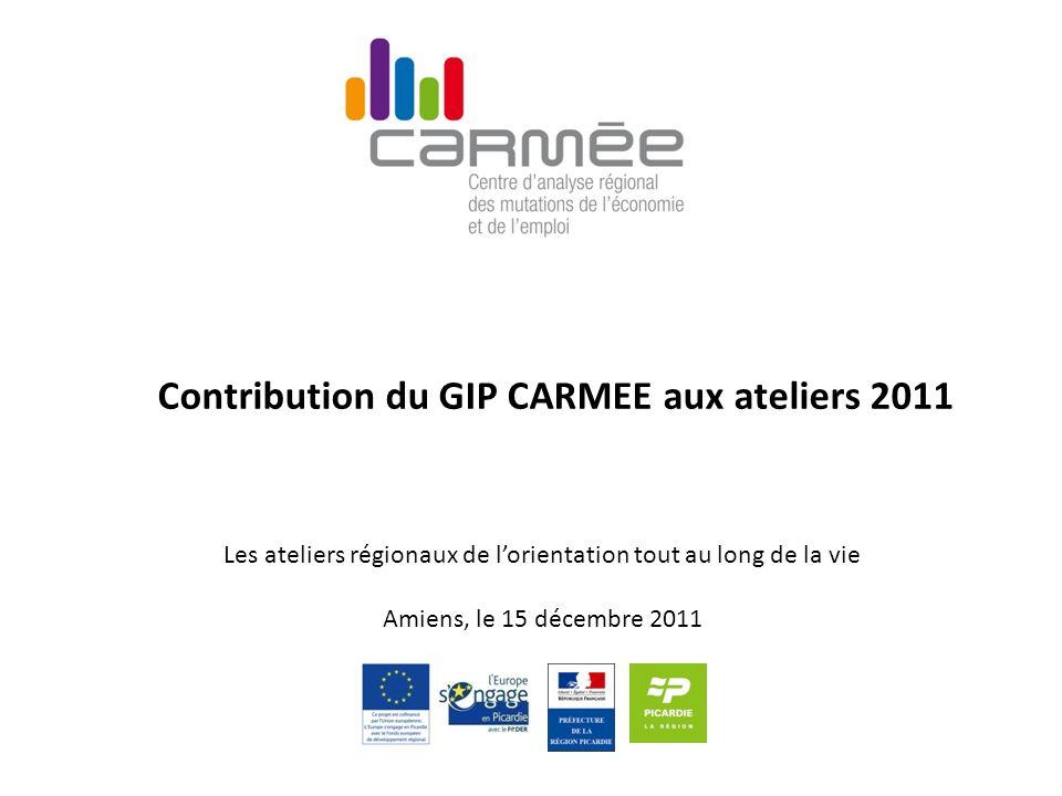 Contribution du GIP CARMEE aux ateliers 2011