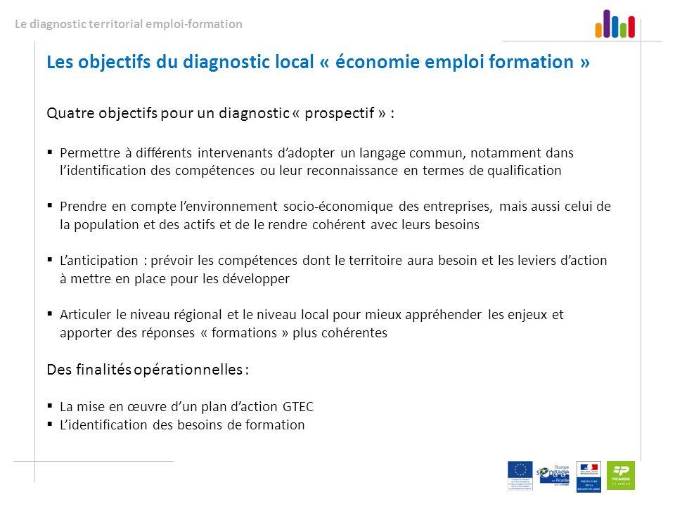Les objectifs du diagnostic local « économie emploi formation »