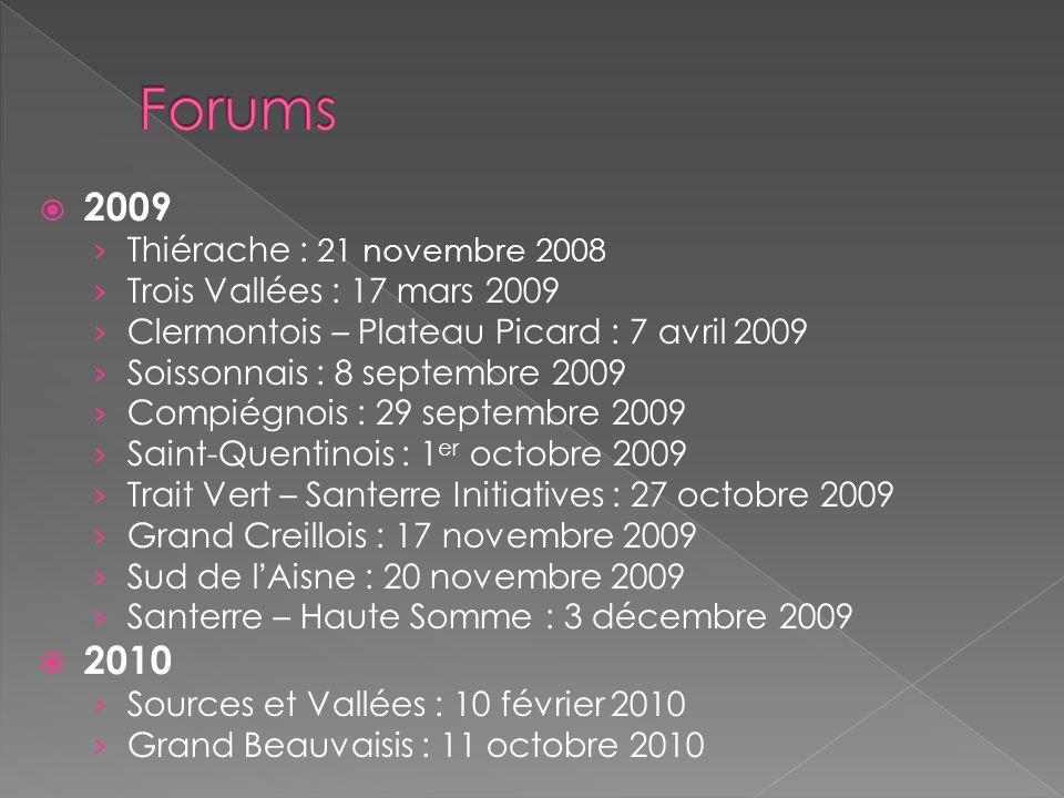 Forums 2009 2010 Thiérache : 21 novembre 2008