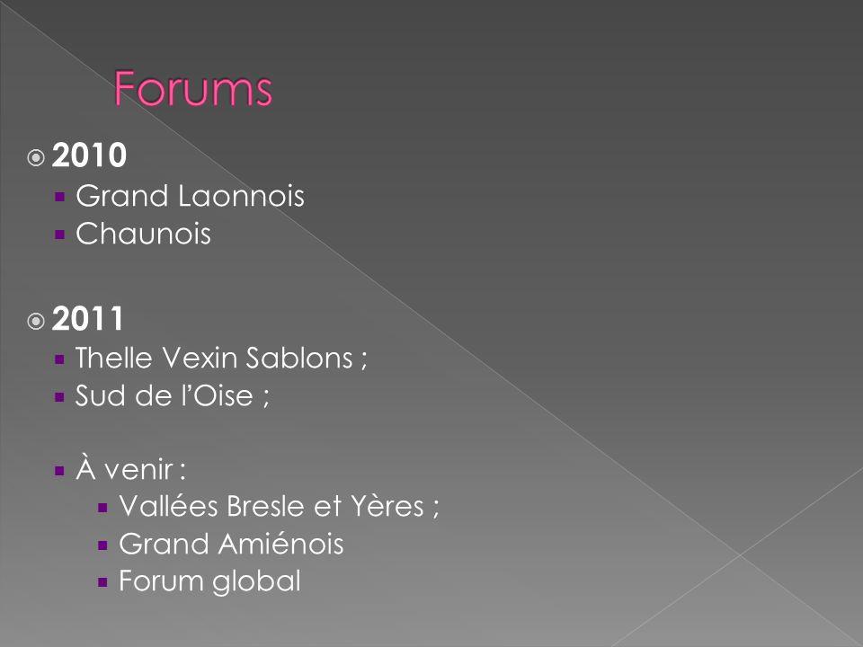 Forums 2010 2011 Grand Laonnois Chaunois Thelle Vexin Sablons ;